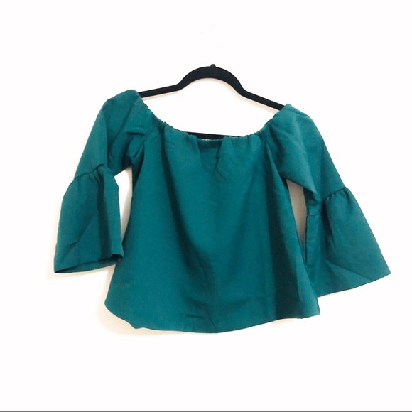 05090844bba Francesca's Collections Tops | Franchescas Nwot Emerald Green Off ...